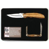 Buck Combo Tin Zebra Wood Handle