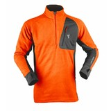 Hunters Element Ascend Micro Fleece Hunting Top Blaze Orange/Charcoal