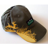 Ridgeline Olive Hunting Cap with Deer Embroidery