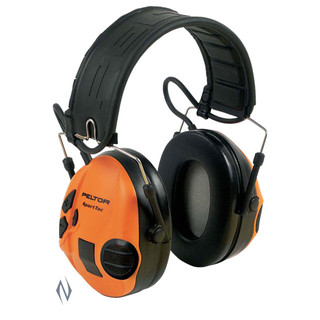 Peltor Sportac Green & Orange Electronic Muffs