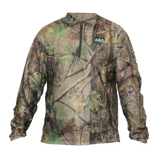 Ridgeline Sable Airflow Long Sleeve Zip Top Nature Green Camo